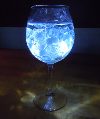 how to make wine glass lights
