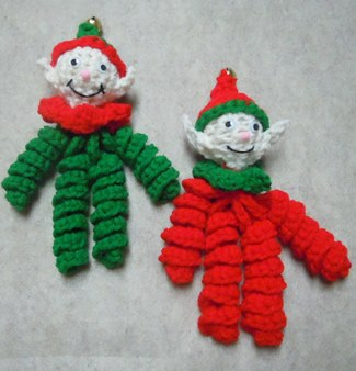 crochet elf ornaments - Elf Christmas Decorations