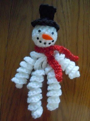 Snowman Ornament Christmas Crochet Pattern