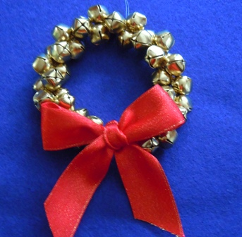 kids christmas crafts jingle bell wreath