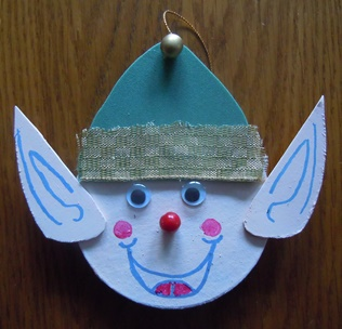 Christmas craft for kids - elf ornament