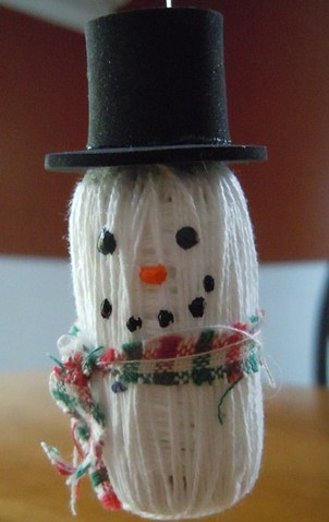 Christmas Ornaments Snowman Ornament Made From Wine Corks