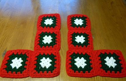 Crochet Granny Square Christmas Stocking Pattern