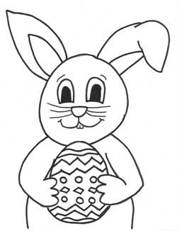 bunny Easter egg coloring page