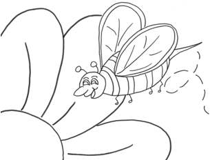 daisy bee coloring page