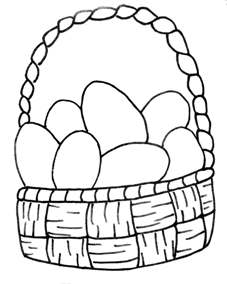 Free Spring Summer Coloring Pages From Craft Elf - Spring basket coloring page
