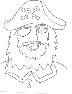 pirage coloring page