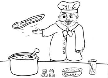 pizza maker coloring page