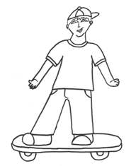 skateboarder coloring page