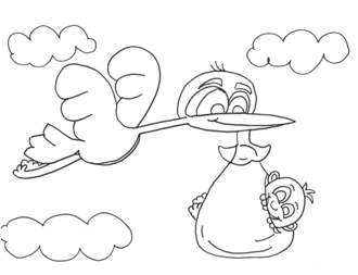 Printable Babies Bedtime Coloring Pages