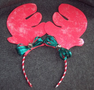 antler headband craft