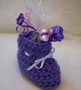 baby bootie crochet pattern party favor