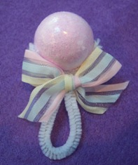 baby shower favors - baby rattle