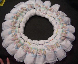 how to make a baby wreath
