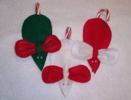 candy cane mouse ornament
