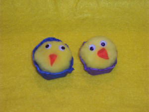 Easy kids Easter craft. Free Instructions for Chick in an Egg Craft.
