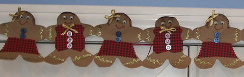 pattern and Christmas craft instructions - easy kids gingerbread craft
