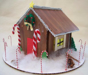 assemble a gingerbread house