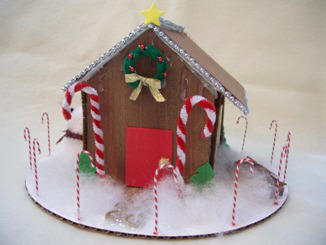 how to put a gingerbread house together