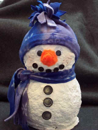 how to make a paper mache snowman