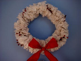 how to make a wreath from tissue paper