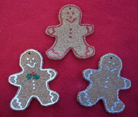 cork gingerbread ornament - Christmas craft idea