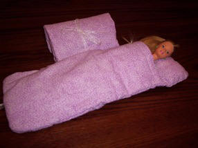 Barbie sleeping bag