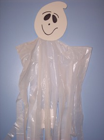 how to make a ghost windsock