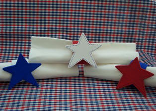 how to make star patriotic napkin rings