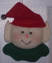 Elf Christmas ornament craft from felt