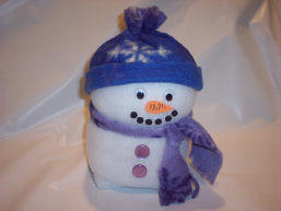 snowman craft from recycled koolaid container
