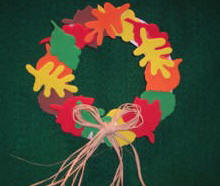 craft a leaf wreath from Craft foam