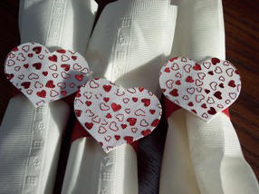 how to make heart napkin rings