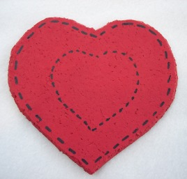 Craft Ideas Hearts on Craft Ideas  Heart Coaster Craft Project Made With Cork