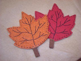 craft instructions & pattern to make leaf coasters