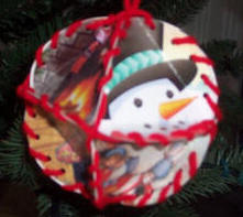 Christmas crafts from recycled Christmas cards