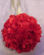 how to make an ornament from scrap fabric