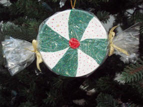 how to make a peppermint candy ornament
