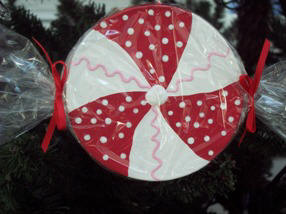 how to paint peppermint ornaments