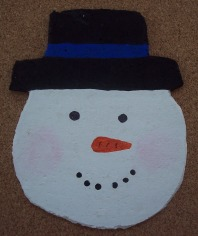 how to make snowman coasters