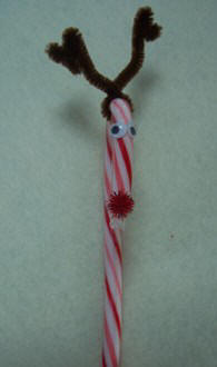 Christmas Craft Make A Reindeer From A Candy Cane And