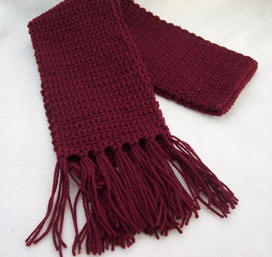 Crochet Basic Patterns : Crochet: Make a crochet scarf with a free pattern from Craft Elf