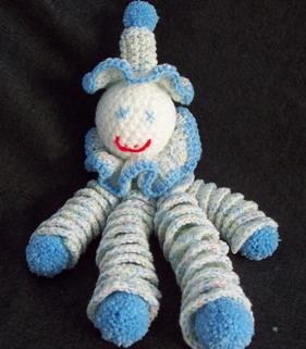 how to crochet a clown doll