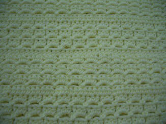 crochet pattern to make a baby blanket or afghan