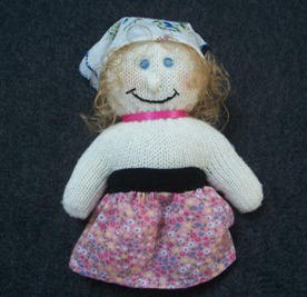 doll making ~ how to make a doll from a knit glove
