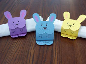 easter craft ideas easter bunny napkin holder from construction paper