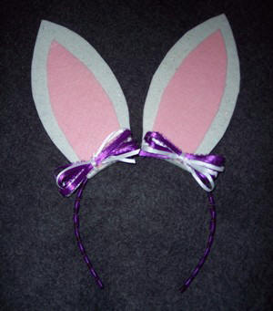 how to make rabbit ears headband
