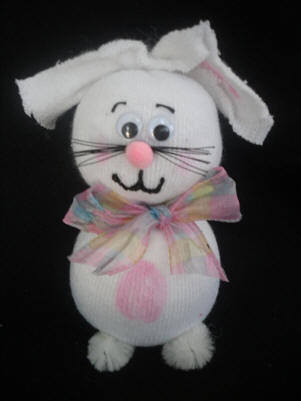 How to Make Sock Easter Bunny Crafts