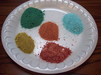 Learn to color sand and make sand art