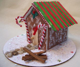 Make A Gingerbread House From Foam Core Board Christmas